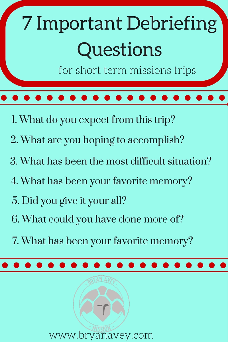 important debriefing questions what are some questions that you helpful or that have been useful for your team debriefings